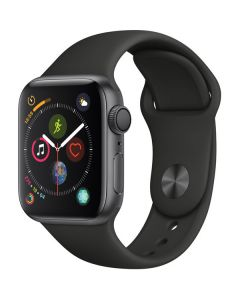 Apple Watch Series 4 40mm GPS, Space Gray Aluminum Case, Black Sport Band MU662LL/A