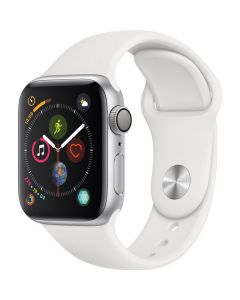 Apple Watch Series 4 40mm GPS, Silver Aluminum Case, White Sport Band MU642LL/A