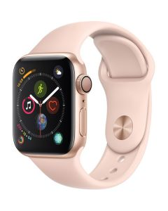 Apple Watch Series 4 40mm GPS, Gold Aluminum Case, Pink Sand Sport Band MU682LL/A