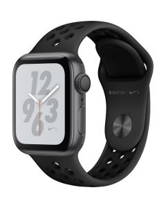 Apple Watch Nike+ Series 4 GPS, 40mm Space Gray Aluminum Case with Anthracite/Black Nike Sport Band MU6J2LL/A