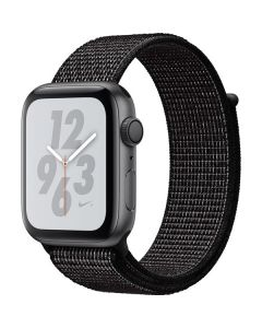 Apple Watch Nike+ Series 4 GPS, 40mm Silver Aluminum Case with Pure Platinum/Black Nike Sport Band MU6H2LL/A