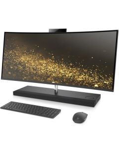 "HP Envy 34-B001LA 34"" Curved All-in-One i7-7700T 2.9 GHz 12GB 1TB NVIDIA GTX 950M 4GB DDR5 Webcam Windows 10 x64 Ash Silver Sparkle – Español"