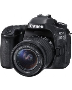 "Canon EOS 80D Lente EF-S 18-55 IS STM 24.2mp Pantalla 3.0"" VariAngle TouchScreen Video 1080/60p WiFi ISO25600"