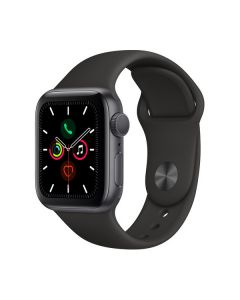 Apple Watch Series 5 40mm Space Gray Aluminum, Black Sport Band MWV82LL/A