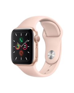 Apple Watch Series 5 44mm Gold Aluminium, Pink Sand Sport Band MWVE2LL/A