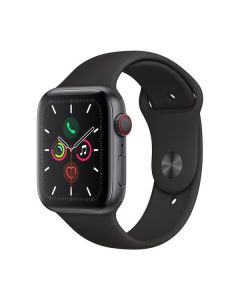 Apple Watch Series 5 44mm 4G Space Gray Aluminum, Black Sport Band MWW12LL/A