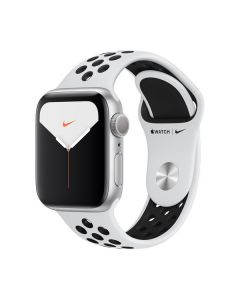 Apple Watch Series 44mm Silver Aluminum, Pure Platinum/Black Nike Sport Band) MX3V2LL/A