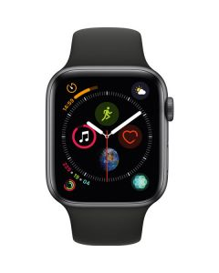 Apple Watch Series 4 44mm GPS, Space Gray Aluminum Case, Black Sport Band MU6D2LL/A