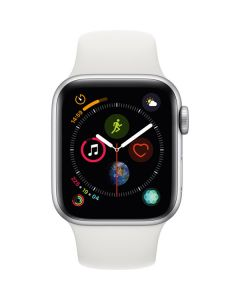 Apple Watch Series 4 44mm GPS, Silver Aluminum Case, White Sport Band MU6A2LL/A