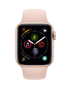 Apple Watch Series 4 44mm GPS, Gold Aluminum Case, Pink Sand Sport Band MU6F2LL/A