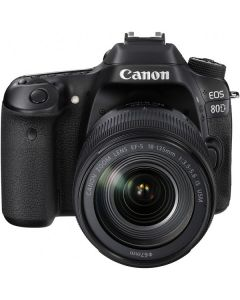 "Canon EOS 80D Lente EF-S 18-135mm IS USM 24.2mp Pantalla 3.0"" VariAngle TouchScreen Video 1080/60p WiFi ISO25600"